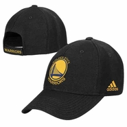Golden State Warriors adidas Primary Logo Structured Adjustable Cap - Black