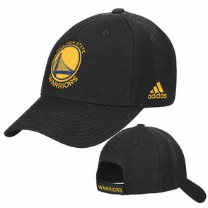 Golden State Warriors Primary Logo Adidas Structured Adjustable Cap - Black - Click to enlarge