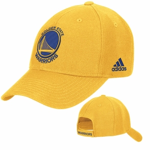 Golden State Warriors Primary Logo Adidas Structured Adjustable Cap - Gold - Click to enlarge