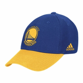 Golden State Warriors Primary Logo Adidas Structured Adjustable Cap - Royal/Gold - Click to enlarge