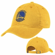 Golden State Warriors Primary Logo Adjustable Adidas Slouch Cap - Gold