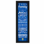 Golden State Warriors Prints Charming Family Cheer Framed Print