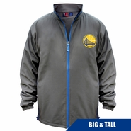 Golden State Warriors Profile Big & Tall Partial Logo Apex Full Zip Jacket � Charcoal