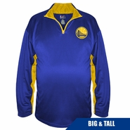 Golden State Warriors Profile Big & Tall Partial Logo � Zip Pullover � Royal