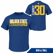 Golden State Warriors Profile Big & Tall Stephen Curry Vertical Name & Number Tee � Royal