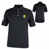 Golden State Warriors Puremotion Adidas CLIMACOOL 3-Stripe Golf Shirt - Black