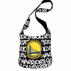 Golden State Warriors Robin Ruth Round Shoulder Bag - Black - Click to enlarge