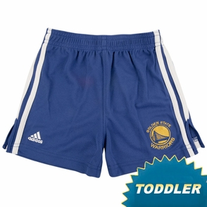 Golden State Warriors Royal Blue Primary Logo Toddler 3-Stripe Athletic Short - Click to enlarge
