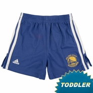 Golden State Warriors Royal Blue Primary Logo Toddler 3-Stripe Athletic Short
