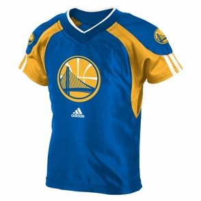 Golden State Warriors Short Sleeve Basketball Jersy & Pant Set-Royal - Click to enlarge