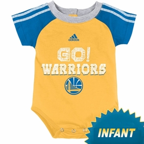 Golden State Warriors Short Sleeve Creeper-Gold - Click to enlarge