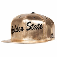 Golden State Warriors adidas Script Snapback-All Gold