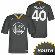Harrison Barnes Youth Jersey: adidas Slate Swingman #40 Golden State Warriors NBA Jersey