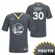 Golden State Warriors Slate Alternate Stephen Curry adidas Youth Jersey