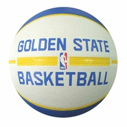 Golden State Warriors Spalding Practice Logo Full Size Basketball - White/Blue