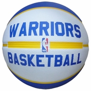 "Golden State Warriors Spalding Practice Logo 29.5"" Full Size Basketball - White/Blue"