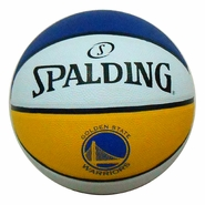 "Golden State Warriors Spalding Primary Logo 3-Panel 29.5"" Full Size Rubber Basketball - Indoor/Outdoor"