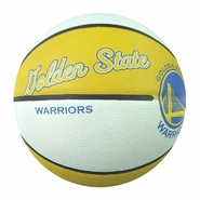 Golden State Warriors Spalding Retro Style Full Size Basketball - White/Gold
