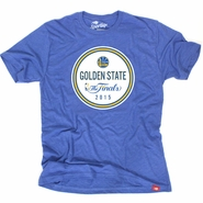 Golden State Warriors Sportiqe Men�s Comfy The Finals Medal Tee � Royal