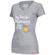 San Francisco Warriors Sportiqe Women's 'The City' Shoeless Abyss Tee � Grey