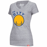 Golden State Warriors Sportiqe Women�s The City Abyss Tee � Grey