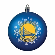 Golden State Warriors Topperscot Shatter Proof Ornament