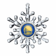 Golden State Warriors Topperscot Snowflake Ornament