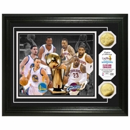 Golden State Warriors vs. Cleveland Cavaliers Highland Mint 2015 NBA Finals Dueling Logo Gold Coin Photo Mint