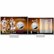 Golden State Warriors vs. Cleveland Cavaliers Highland Mint 2015 NBA Finals Dueling Silver Coin Card