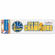 Golden State Warriors Wincraft NBA Championship 3x10 Perfect Cut Decal - Will Ship 7/8