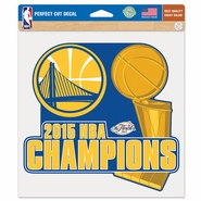 Golden State Warriors Wincraft NBA Championship 8x8 Perfect Cut Decal - Will Ship 7/8