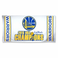Golden State Warriors Wincraft NBA Championship Beach Towel - White - Will Ship 7/8