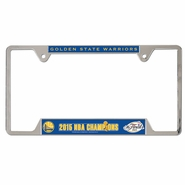Golden State Warriors Wincraft NBA Championship Metal License Plate Frame - Will Ship 7/8