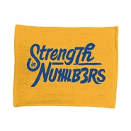 """Golden State Warriors WinCraft Strength In Numbers 73 Wins 15""""x18"""" Rally Towel - Gold"""