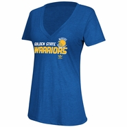 Golden State Warriors Women's adidas Hangtime Tee - Royal