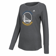 Golden State Warriors Women's adidas White Tonal Primary Logo Long Sleeve Tee