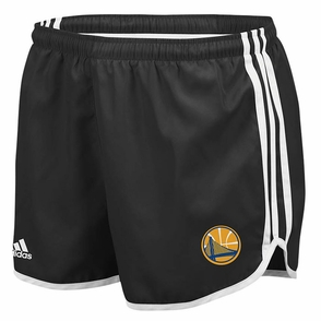 Golden State Warriors Womens 3 Stripe Adidas Shorts - Black - Click to enlarge
