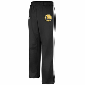 Golden State Warriors Womens Adidas Partial Logo Track Pants - Black - Click to enlarge