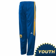 Golden State Warriors Youth adidas Pre-Game Travel Pants - Royal/Gold