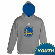 Golden State Warriors Youth adidas Pullover Logo Hoodie - Grey