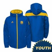Golden State Warriors Youth adidas Shockwave Jacket - Royal/Gold