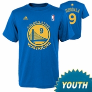 Golden State Warriors Youth Andre Iguodala Name & Number Road Tee-Royal