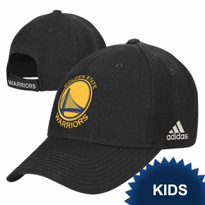 Golden State Warriors adidas Kids Black Primary Logo Adjustable Hat - Click to enlarge