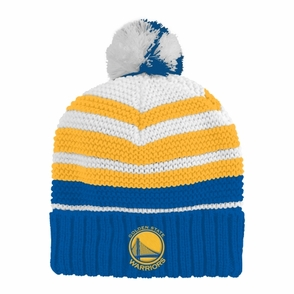 Golden State Warriors adidas Youth Cuffed Pom Knit-Multi - Click to enlarge