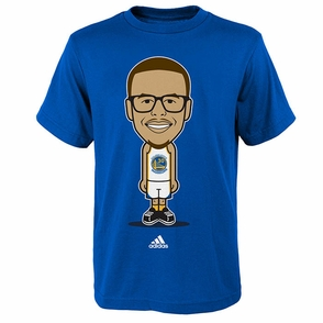 Golden State Warriors Youth Geek Up Stephen Curry Adidas Tee - Blue - Click to enlarge