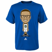Golden State Warriors Youth Geek Up Stephen Curry Adidas Tee - Blue