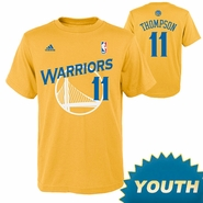 Golden State Warriors Youth Klay Thompson Name & Number Tee-Gold
