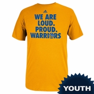 Golden State Warriors Youth On Court 2014 Adidas Playoff Tee - Gold - Will Ship April 24th