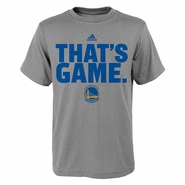 "Golden State Warriors Youth Short Sleeve ""That's Game"" Tee-Grey"