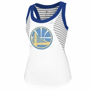 Golden State Warriros adidas Women's Racer Stripe Tank - White